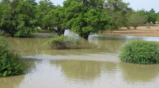 Inondations au Burkina Faso - Copyright : Eau Vive