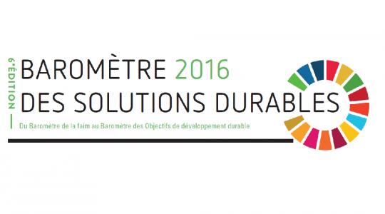La Coalition Eau participe au Baromètre des Solutions Durables 2016