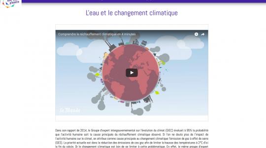 Lancement du parcours numérique«Rendons l'eau à la terre pour restaurer le climat»