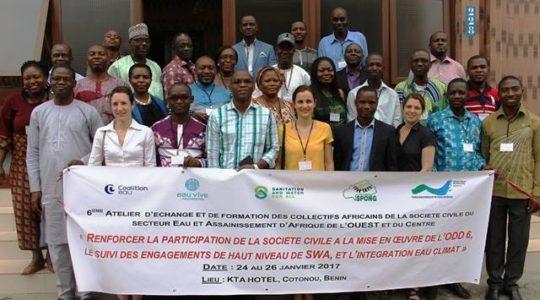 La société civile d'Afrique de l'Ouest et du Centre fortement mobilisée pour garantir l'accès à l'eau et à l'assainissement pour tous