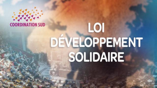 Vote de la loi Développement solidaire: une ambition renouvelée