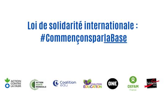 Loi de solidarité internationale: alors que les inégalités mondiales se creusent, la France doit faire plus