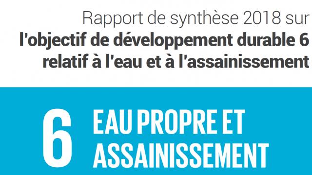 UN-Water publie son rapport de synthèse 2018 sur l'ODD 6 relatif à l'eau et à l'assainissement