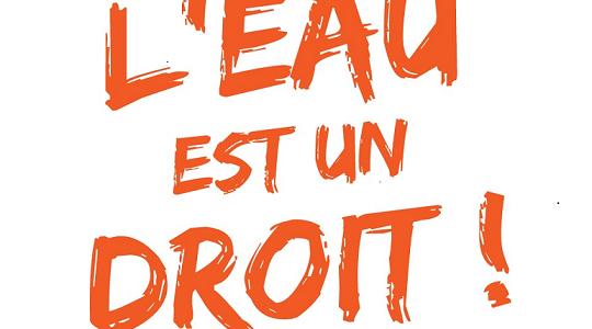 """Lancement de la campagne """"L'eau est un droit!"""""""