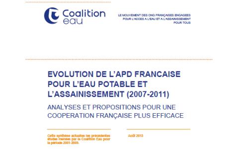 La Coalition Eau publie sa nouvelle étude sur l'APD française pour l'eau et l'assainissement