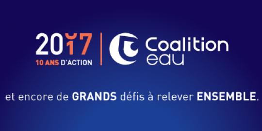 La Coalition Eau vous souhaite une belle année 2017!
